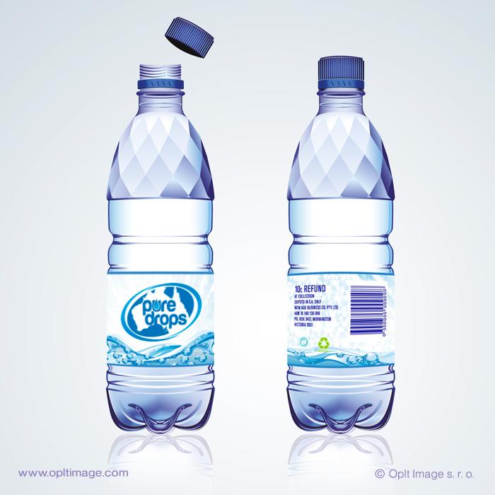 spring water label